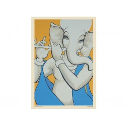 Lord Ganesh with Flute 4